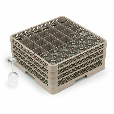 Traex TR7CCC Beige 36 Compartment Glass Rack with 3 Extenders