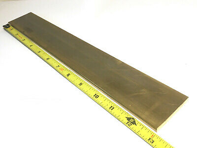 "1/4"" x 2"" C360 BRASS FLAT BAR 13"" long Solid .250"" Plate Mill Stock H02"