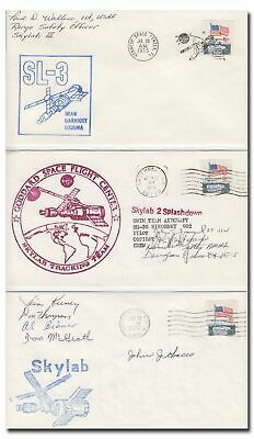 Skylab 3 set of handsigned covers by NASA officials and recovery team - 4i116