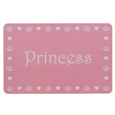 Princess Pet Placemat Food Water Bowl Dish Feeding Mat Dog Cat Wipe Clean NEW
