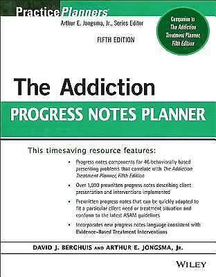 The Addiction Progress Notes Planner Fifth Edition [P.D.F]