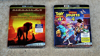 DISNEY 4K LOT THE LION KING & TOY STORY 4 4K Ultra + Blu-ray + Digital BILINGUAL
