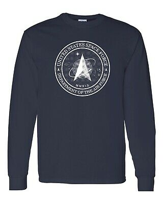 United States Space Force Department Air Force Flag Long Sleeve Men's TShirt 705