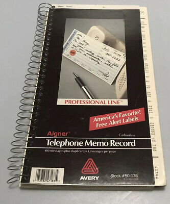 1988 avery message book 50-176