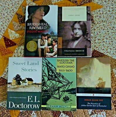 Classic Literature Mixed Lot of 4 trade softcovers & 1 hardcover - Melville, Eyr
