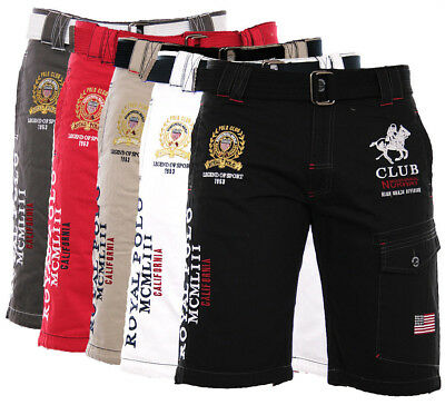Geographical Norway Homme Shorts Cargo Pantacourt Bermuda Longueur Genou Papill