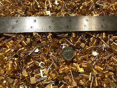 1/2 Pound New Military Gold Plated Rf Connectors/Contacts. Gold Scrap Recovery