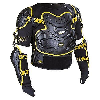 SHOT Interceptor Black & Yellow Body Armour Elbow/Kidney/Back/Chest CE Approved