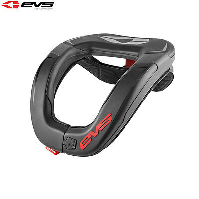EVS R4 Neck Protector Adult Black/Red Motocross MX Armour