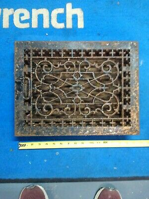 Vintage antique cast iron victorian floor vent grate register 16x12 ornate