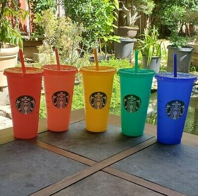 Starbucks Color Changing Summer Pride 2020 COLD Reusable Cup tumbler New Venti