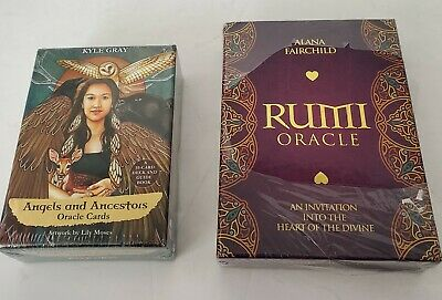 NEW Two Set of Oracle Cards - Angels and Ancestors & Rumi