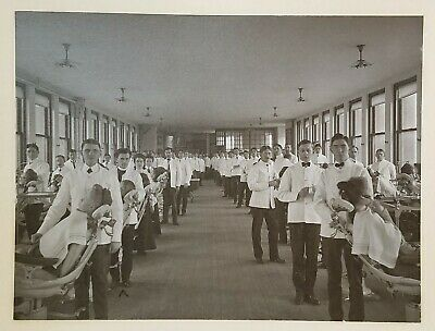 TUFTS DENTAL SCHOOL 2 EARLY 20th C PHOTOS WOMEN & BLACK DENTIST PATIENTS CHAIRS