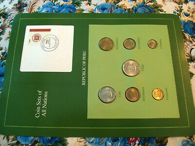 Coin Sets of All Nations Peru 1985 - 1988 UNC
