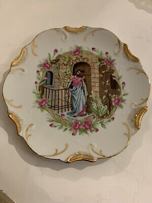 Vintage 18k Gold Trim JESUS Collector's Plate Japan Mid-State Products