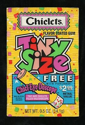 Chiclets Tiny Size, empty gum package, 1997