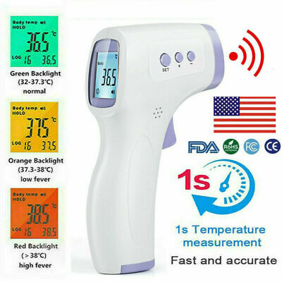 Non Contact Digital IR Infrared Forehead Thermometer Gun Temperature meter G