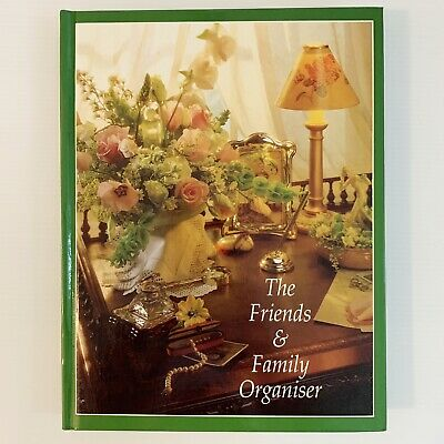 The Family And Friends Organiser Address Birthday Christmas Floral Theme 2000 HC