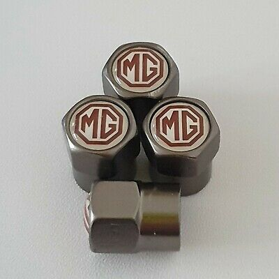 MG Gun Metal Grey Valve Dust Caps for all models MGb MG6 MG3 gt zr zs zt Midget