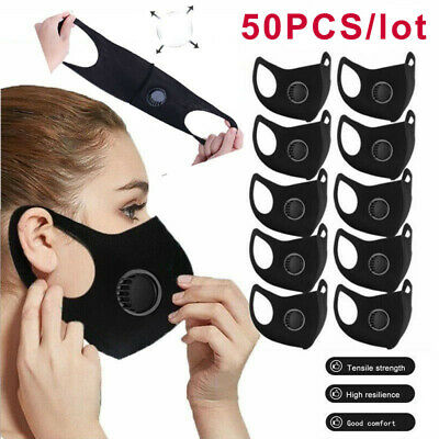 3D Fashion Masks Foldable Washable PM2.5 Mouth Cover With Valves Reusable Masks
