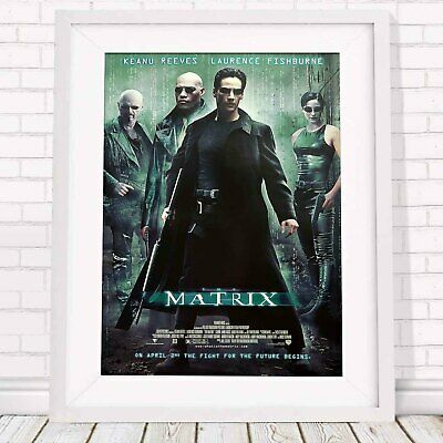 MATRIX KEANU REEVES CLASSIC MOVIE POSTER PICTURE PRINT Sizes A5 to A0 **NEW**