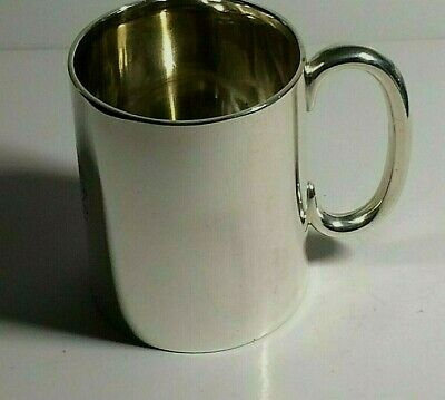 Antique Solid Silver Tankard / Childs Cup. 97.60.Grams, Sheffield 1906,