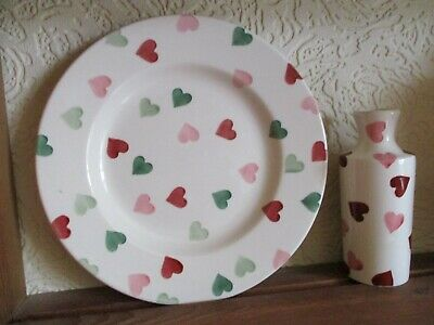 "Emma  Bridgewater  Pink  & Green  Hearts  8.5""  plate.  read description."