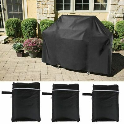 Black Bbq Cover Waterproof Rain Garden Barbecue Grill Heavy Duty Extra Large Uk