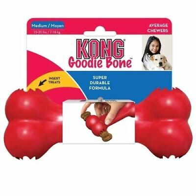 KONG Classic Goodie MED Bone Dog Treat Dispenser Tough Rubber Chew Toy or Treats
