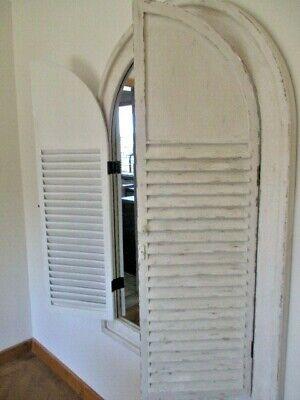 extra  large shabby chic Shutter Window Frame Wall Mirror