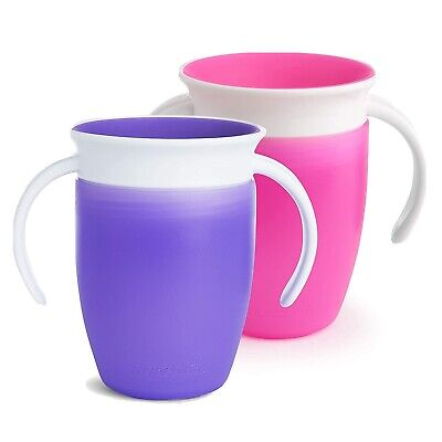 Munchkin Miracle 360 Trainer Cup, Pink/Purple, 7 oz, 2 Count -Free Shipping