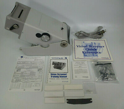 Titmus Model 2S Vision Screener w/ Manual, Vinyl Dust Cover, & More Accessories
