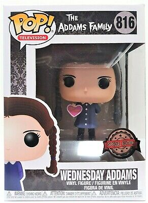 Funko Pop Wednesday Addams Valentines # 816 The Addams Family Vinyl Figure New