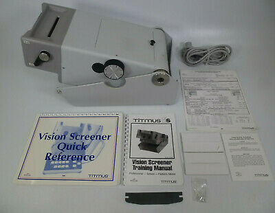 Titmus Model 2S Vision Screener w/ Manual, Spare Bulbs, Record Forms, & More