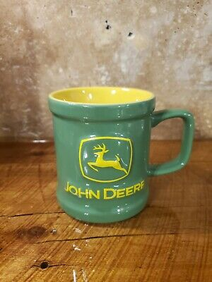 John Deere Embossed Licensed Green Coffee Mug 10 ozs