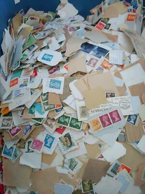 1KG GB Stamps On & Off Paper