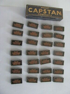 Vintage Wills's Capstan Cigarettes Dominoes Advertising Full Set Double 6