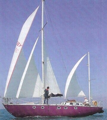 Sailing Yacht. 1968, 38 ft cutter rigged yawl.Cold moulded teak on mahogany