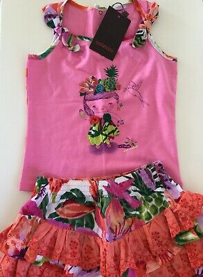 Catimini Girls Skirt And Top age 3/4  Years Outfit. BNWT New With Tags.