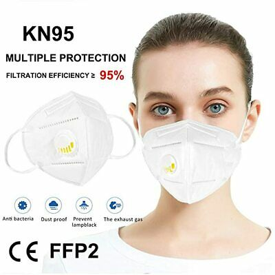 10 Pieces Face Mouth Protective Cover With Valve - USA Ships ASAP