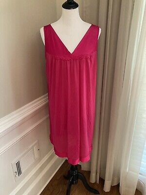 Vanity Fair Gown 30-107 Nightgown Large L Pink Think Lightweight