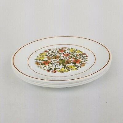 VTG Corelle Corning Indian Summer Pattern Set of 4 Salad Dessert Plates 8 1/2""