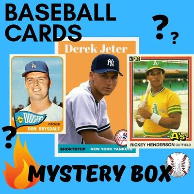 Baseball Cards Box Mysterious 100 Cards PLUS 2 Packs!!