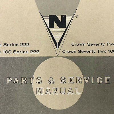 National Vendors Crown Line 100 Series 222 Seventy Two 22M-72 Service Manual
