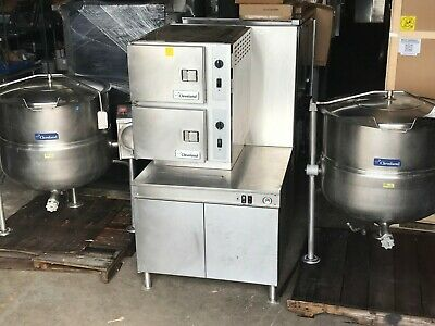 Cleveland 2 Comp Convection Steamer with 2 ea. Direct Fired 60 gal Kettles