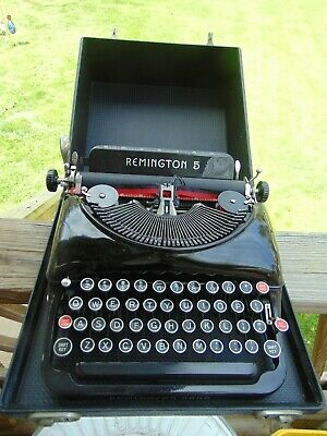 Vintage Remington Rand 5 Portable Typewriter with Case V912272
