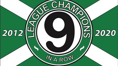 Celtic 9 In  A Row Badge /pin