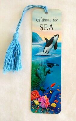 Vintage Bookmark with Tassel - Celebrate the SEA - Whale