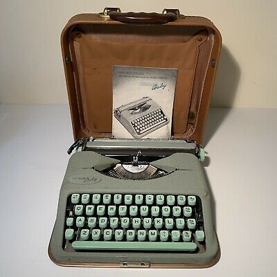 1960S Vintage Hermes Baby Portable Typewriter With Carry Case