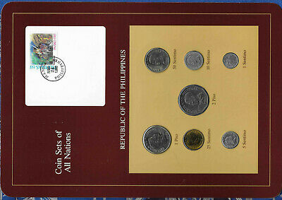 Coin Sets of All Nations Philippines All 1985 but 1 Sentimo 1983 UNC MAR241986